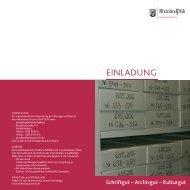 einladung - Landesarchivverwaltung Rheinland-Pfalz