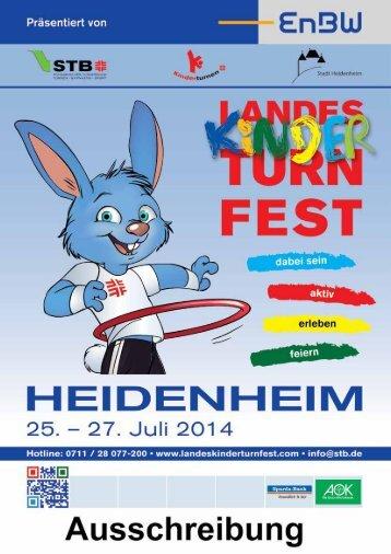 Ausschreibung - Landeskinderturnfest 2014