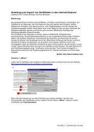 Anleitung zum Import von Zertifikaten in den Internet Explorer