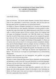 Verabschiedung von Propst Jürgen Schinke