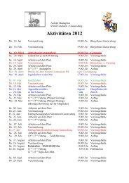 Aktivitäten 2012 - Dampfbahnclub Rhein-Main eV
