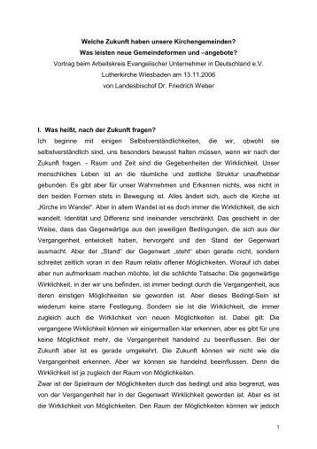 AEU Vortrag LB - Evangelisch-lutherischen Landeskirche in ...