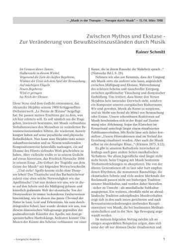 Zwischen Mythos und Ekstase - Evangelisch-lutherischen ...