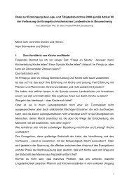 Zum Lage- und Tätigkeitsbericht 2008 - Evangelisch-lutherischen ...