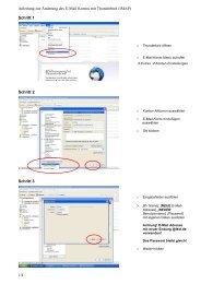 Anleitung zur Änderung des E-Mail Kontos mit Thunderbird (IMAP) 1 ...