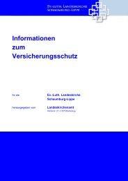 9.3.0.0 Versicherungen der Landeskirche - Versicherungsmerkblatt