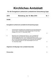 Amtsblatt 2010-1 - Ev.-Luth. Landeskirche Schaumburg-Lippe