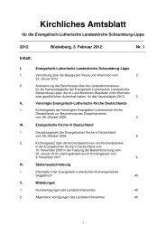 Kirchliches Amtsblatt - Ev.-Luth. Landeskirche Schaumburg-Lippe