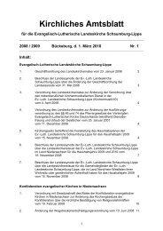 Amtsblatt 1 2008 und 2009 - Ev.-Luth. Landeskirche Schaumburg ...