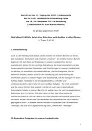 Bericht vor der 11. Tagung der XVIII. Landessynode der Ev.-Luth ...