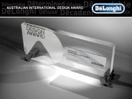 EXCELLENCE AWARDED - De'Longhi Australia
