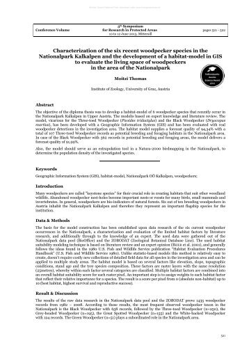 Characterization of the six recent woodpecker species in the ...