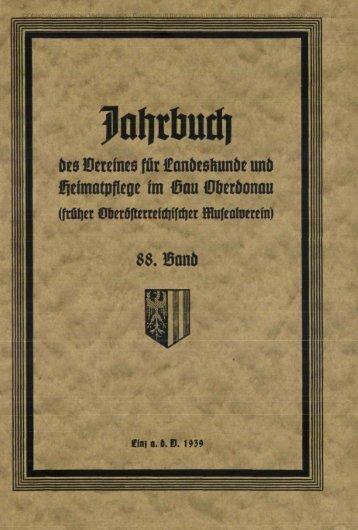 des Vereines für Landeskunde und Helmlltfiflelle im Gau Werdonau