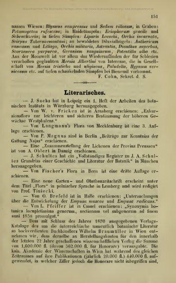 Österreichische botanische Zeitschrift - Oberösterreichisches ...