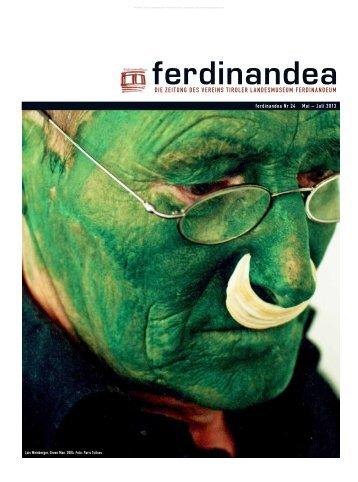 die Zeitung des Vereins tiroler landesmuseum Ferdinandeum