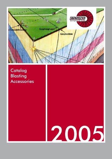 Catalog Blasting Accessories - ESSING Sprengtechnik Gmbh
