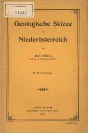 Geologische Skizze Niederösterreich - Oberösterreichisches ...