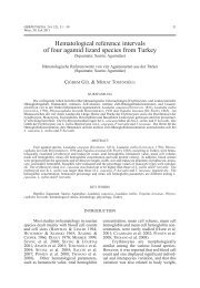 Hematological reference intervals of four agamid lizard species from ...