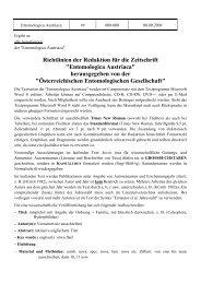 Richtlinien der Redaktion für die Zeitschrift