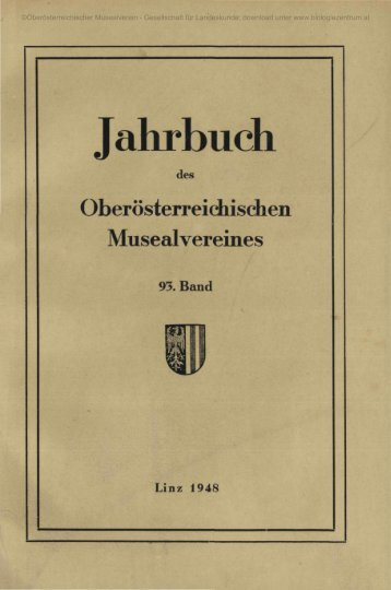 Jahrbuch - Oberösterreichisches Landesmuseum