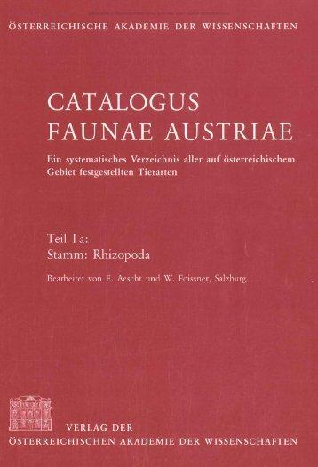 catalogus faunae austriae - Oberösterreichisches Landesmuseum