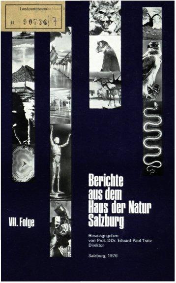 ì -I Berichte ans dem ta der Natur Sa zburo - Oberösterreichisches ...