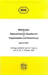 Tropenmedizin und Parasitologie - Oberösterreichisches ...