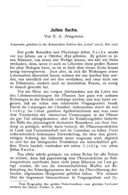 Julius Sachs.