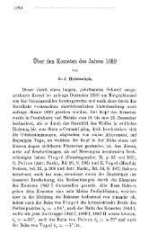 Über den Kometen des Jahres 1689