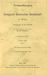 Verhandlungen Zoologisch-Botanischen Gesellschaft