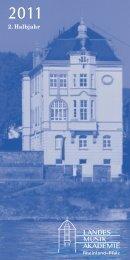 2011-2 Programm Arbeitsvorlage für Homepage