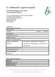 """51. Wettbewerb """"Jugend musiziert"""" - Landesmusikrat Hessen e.V."""