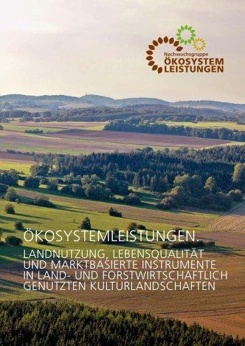 """Mehr lesen... - Nachwuchsgruppe """"Ökosystemleistungen"""""""