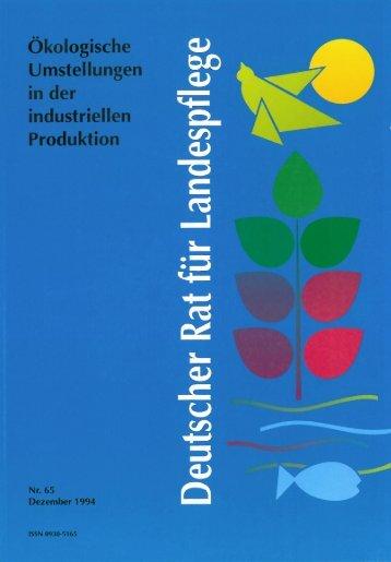 Ökologische Umstellungen in der industriellen Produktion
