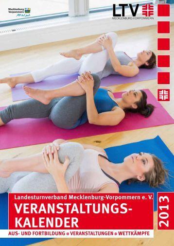 Veranstaltungskalender 2013 - Landesturnverband Mecklenburg ...