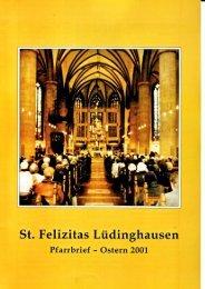 St. Felizitas Luedinghausen Pfarrbrief Ostern 2001