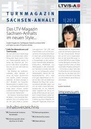 Das LTV-Magazin Sachsen-Anhalts im neuen Style... 1| 2013 ...