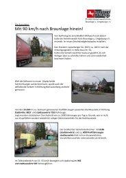 Auswertung Geschwindigkeitsdisplay - Landesverkehrswacht ...