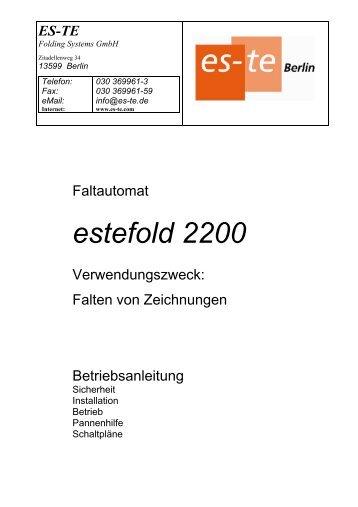 estefold 2400 Das online Faltsystem für Canon ipf ... - es-te.de