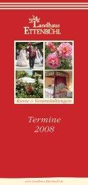 Termine 2008 - Rosen kaufen, Gartenkurse, Rosengarten ...