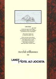 Aktuelle Speisekarte zum Download - Landhotel Altjocketa