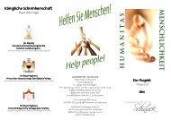 Flyer Humanitas Titel - Landhotel Schnuck
