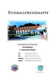 LS KFF Fußballpressemappe 2009 - Landhotel Schnuck