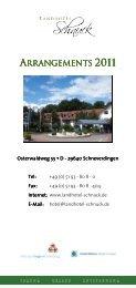 ARRANGEMENTS 2011 - Landhotel Schnuck
