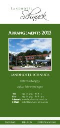 download --> Arrangements 2013 - Landhotel Schnuck