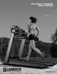 Pro Trainer Treadmill Owner's Manual - Landice