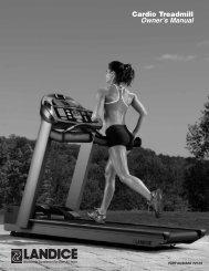 Cardio Treadmill Owner's Manual - Landice