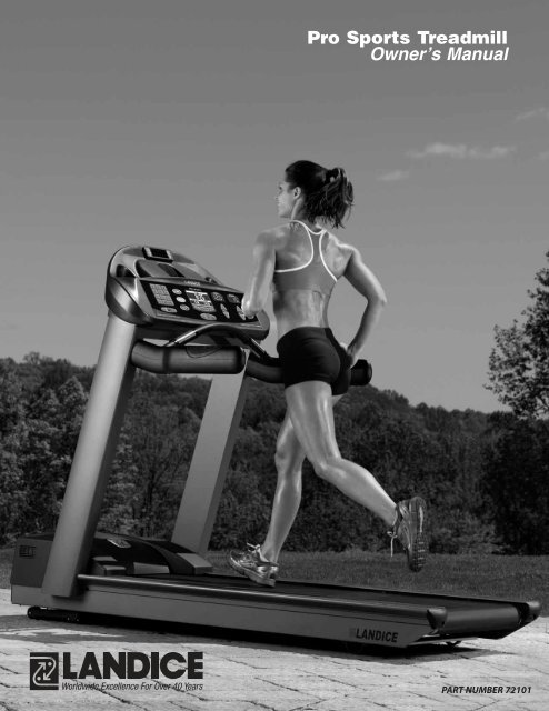 Pro Sports Treadmill Owner 1 4 S Manual