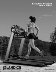 Executive Treadmill Owner's Manual - Landice