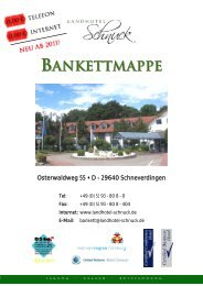 BANKETTMAPPE - Landhotel Schnuck